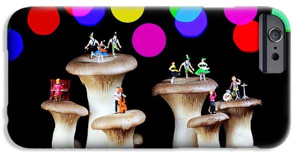 Dancing On Mushroom Under Starry Night IPhone Case by Paul Ge