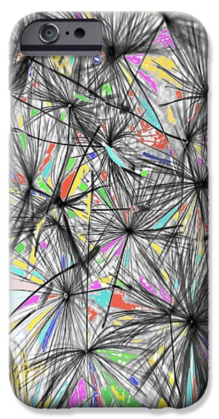 Dandelion Seeds - Abstract IPhone Case by Marianna Mills