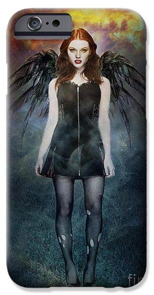 Dark Angel IPhone Case by Michael  Volpicelli