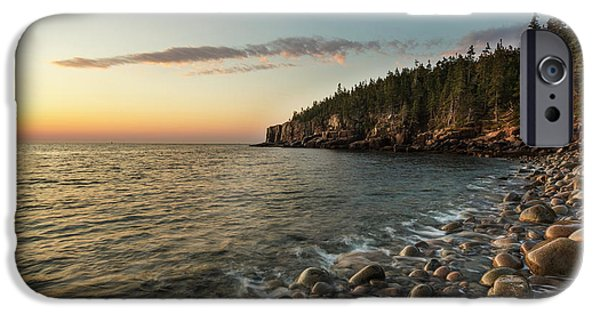 Dawn In Monument Cove In Maine's Acadia IPhone Case by Jerry and Marcy Monkman