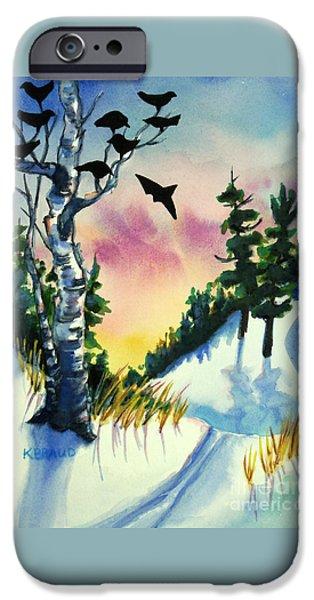 Daybreak Ski              IPhone Case by Kathy Braud