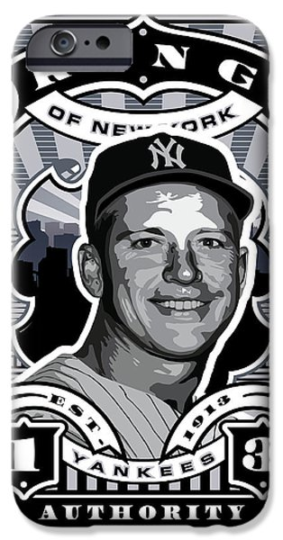 Dcla Mickey Mantle Kings Of New York Stamp Artwork IPhone 6s Case by David Cook Los Angeles