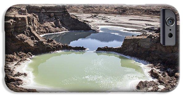 Dead Sea Sinkholes  IPhone Case by Eyal Bartov