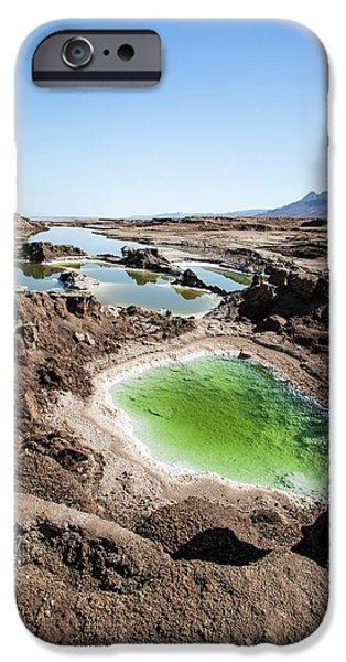 Dead Sea Sinkholes IPhone Case by Photostock-israel