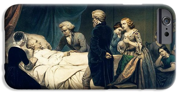 Death Of George Washington IPhone Case by Library Of Congress