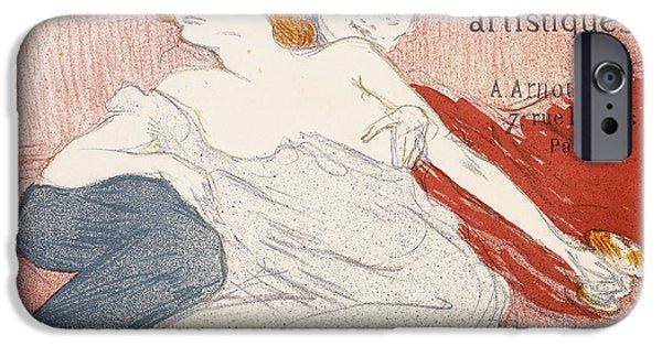 Debauche Deuxieme Planche IPhone Case by Henri de Toulouse-Lautrec