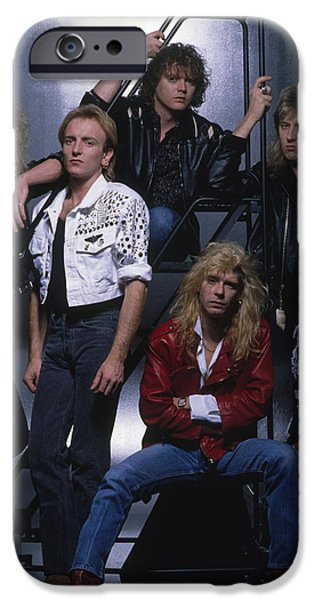 Def Leppard - Group Stairs 1987 IPhone Case by Epic Rights