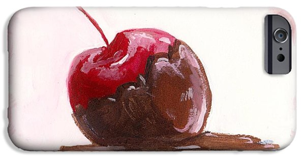 Delightfully Delectable 3 Cherry IPhone Case by Shana Rowe Jackson