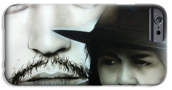 Johnny Depp - ' Depp ' IPhone 6s Case by Christian Chapman Art
