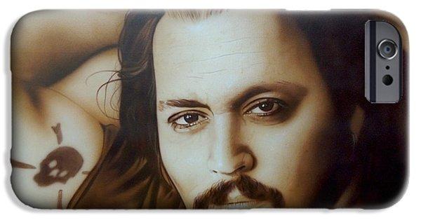 Johnny Depp - ' Depp II ' IPhone 6s Case by Christian Chapman Art
