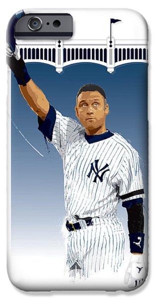 Derek Jeter 3000 Hits IPhone 6s Case by Scott Weigner