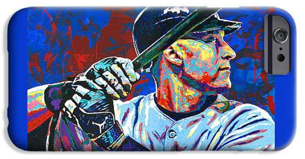 Derek Jeter IPhone Case by Maria Arango