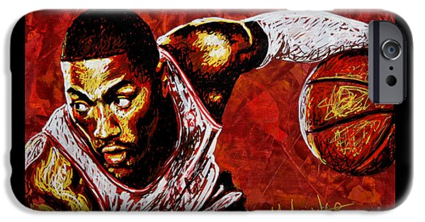 Derrick Rose IPhone Case by Maria Arango