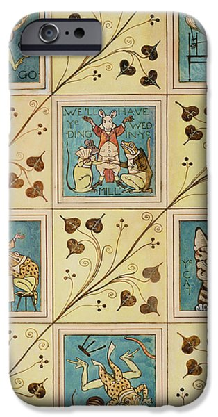 Design For Nursery Wallpaper IPhone Case by Voysey