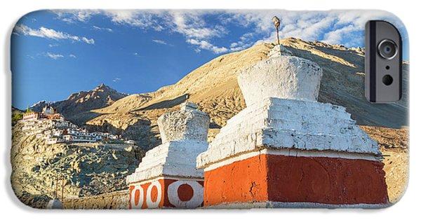 Deskit Monastery, Ladakh, India IPhone Case by Peter Adams