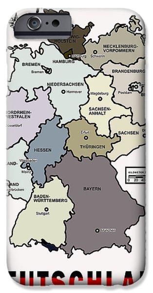 Deutschland Map IPhone Case by Daniel Hagerman