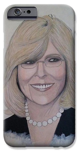 Diane Keaton IPhone Case by Patricia Brewer-Cummings