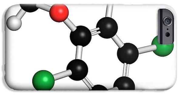 Dicamba Herbicide Molecule IPhone Case by Molekuul
