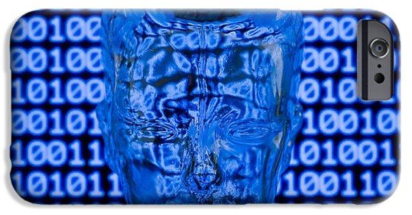 Digital Head IPhone Case by Shawn Hempel