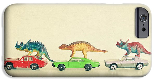 Dinosaurs Ride Cars IPhone 6s Case by Cassia Beck
