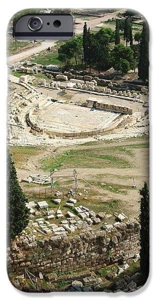 Dionysus Amphitheater IPhone Case by Ellen Henneke