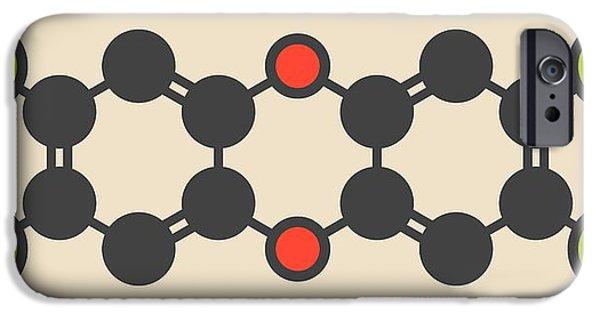 Dioxin Molecule IPhone Case by Molekuul