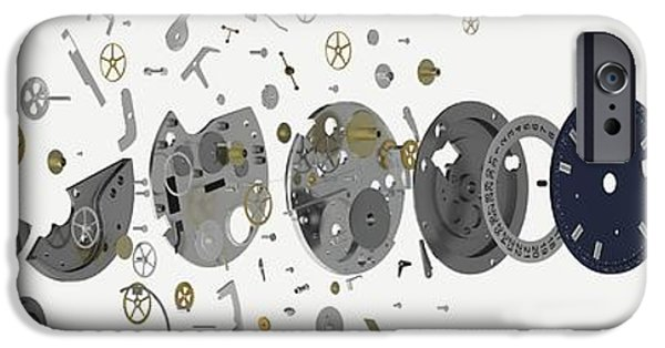 Disassembled Parts Of A Wristwatch IPhone Case by Dorling Kindersley/uig