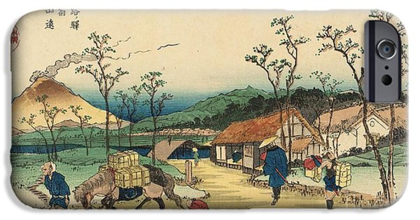 Distant View Of Mount Asama From Urawa Station IPhone Case by Ikeda Yoshinobu