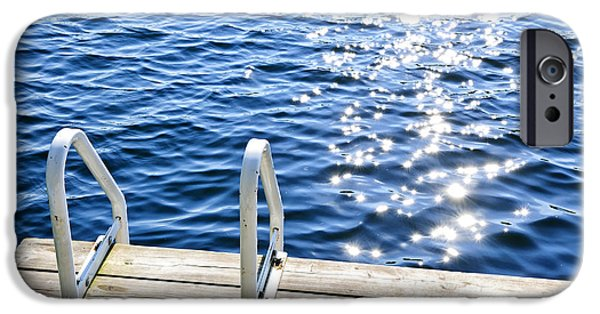 Dock On Summer Lake With Sparkling Water IPhone Case by Elena Elisseeva