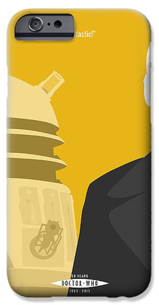 Doctor Who 50th Anniversary Poster Set Nineth Doctor IPhone Case by Jeff Bell