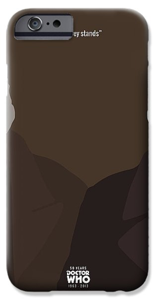 Doctor Who 50th Anniversary Poster Set The War Doctor IPhone Case by Jeff Bell