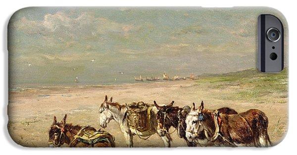 Donkeys On The Beach IPhone 6s Case by Johannes Hubertus Leonardus de Haas