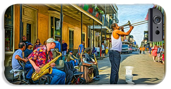 Doreen's Jazz New Orleans - Paint IPhone Case by Steve Harrington