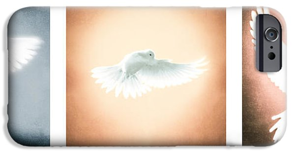 Dove In Flight Triptych IPhone 6s Case by YoPedro