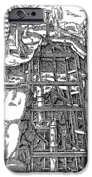 Draining Mine IPhone Case by Universal History Archive/uig