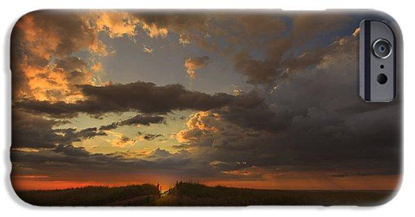 Dramatic Clouds Over Atlantic Ocean IPhone Case by Dapixara Art