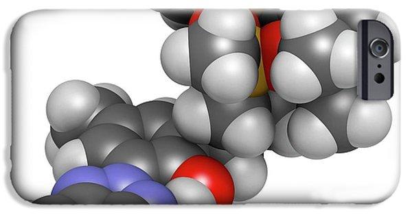 Drometrizole Trisiloxane Molecule IPhone Case by Molekuul