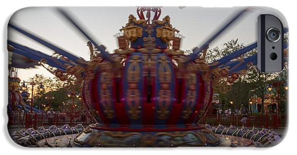 Dumbo The Flying Elephant Ride At Dusk IPhone Case by Adam Romanowicz