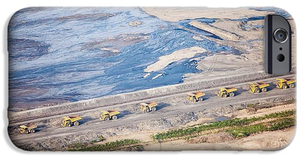 Dump Trucks At Tar Sand Mine IPhone Case by Ashley Cooper