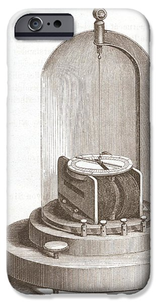 Early Galvanometer IPhone Case by King's College London