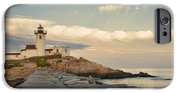 Eastern Point Lighthouse IPhone Case by Juli Scalzi