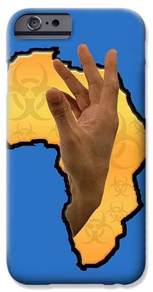 Ebola Epidemic IPhone Case by Victor Habbick Visions