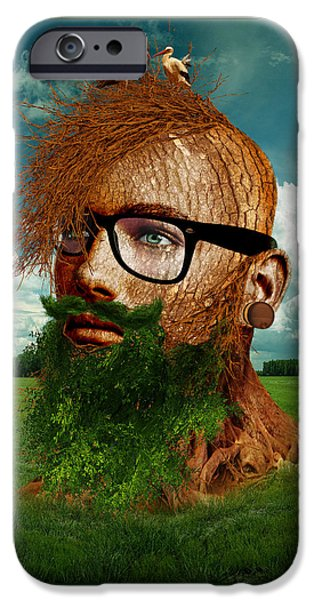 Eco Hipster IPhone Case by Marian Voicu