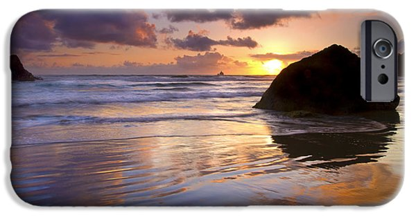 Ecola Sunset IPhone Case by Mike  Dawson