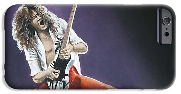 Eddie Van Halen IPhone Case by Tom Carlton