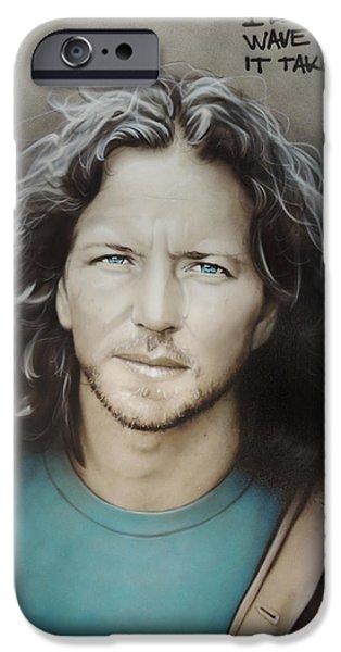 ' Eddie Vedder ' IPhone 6s Case by Christian Chapman Art