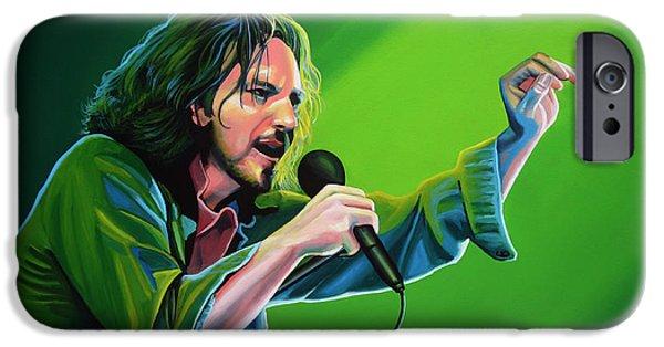 Eddie Vedder Of Pearl Jam IPhone 6s Case by Paul Meijering