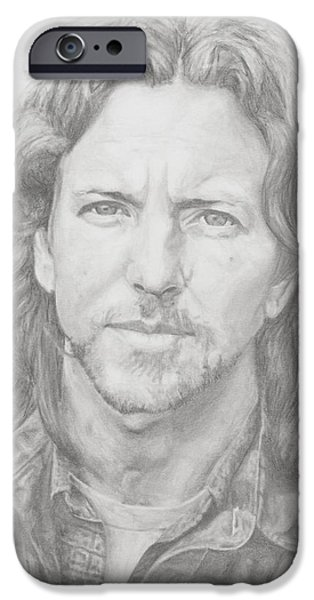 Eddie Vedder IPhone Case by Olivia Schiermeyer