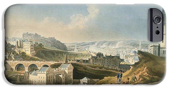 Edinburgh Cityscape, 1810 IPhone Case by British Library