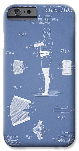 Elastic Bandage Patent From 1887 - Light Blue IPhone Case by Aged Pixel